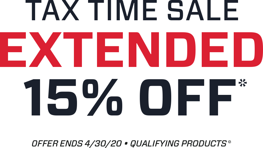 Tax Time Sale - 15% off going on now