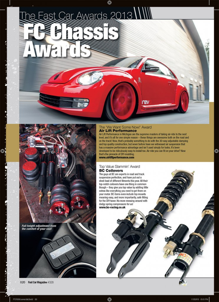 Air Lift Performance wins Fast Car magazine award