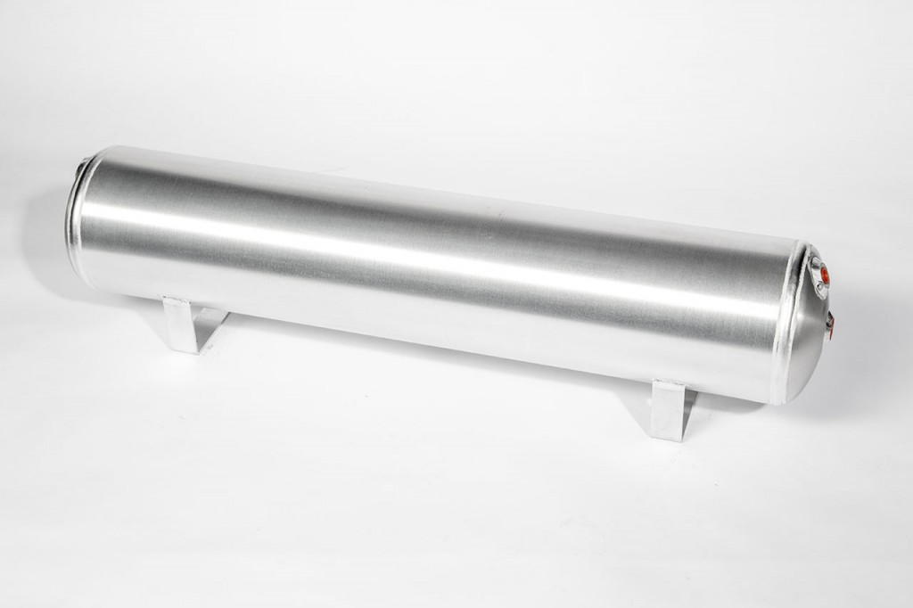 Air Lift Performance 4 gallon aluminum tank available in raw/polished finish