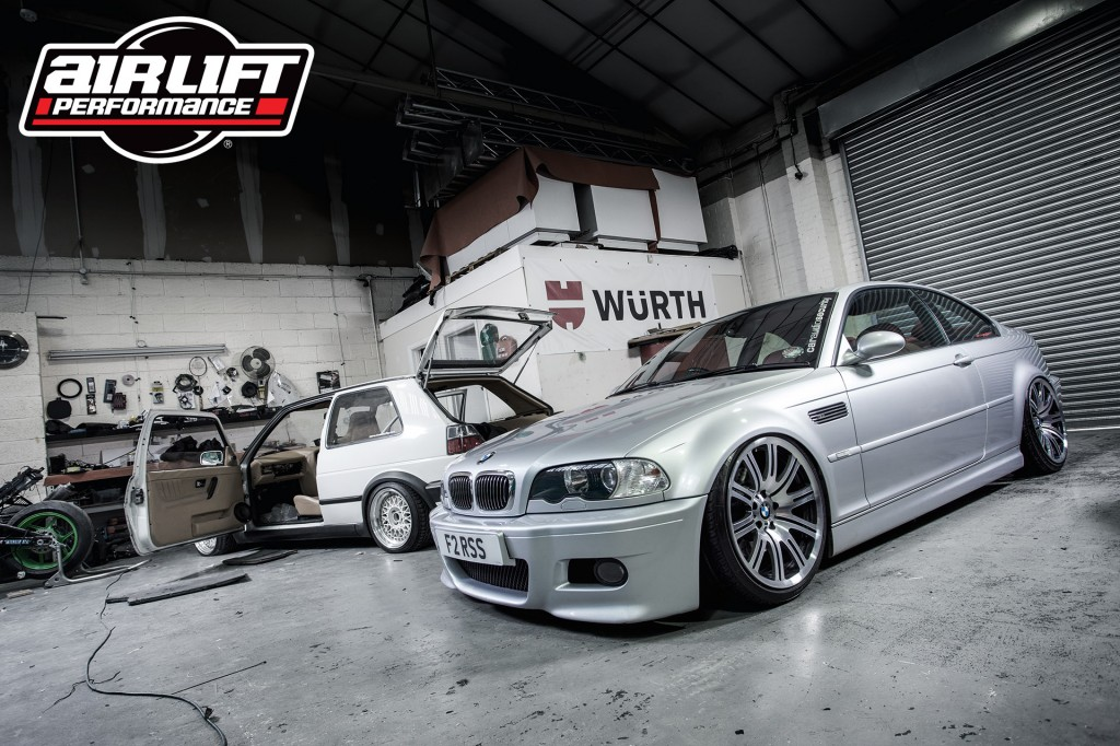 Air Lift Performance equipped E46 BMW M3