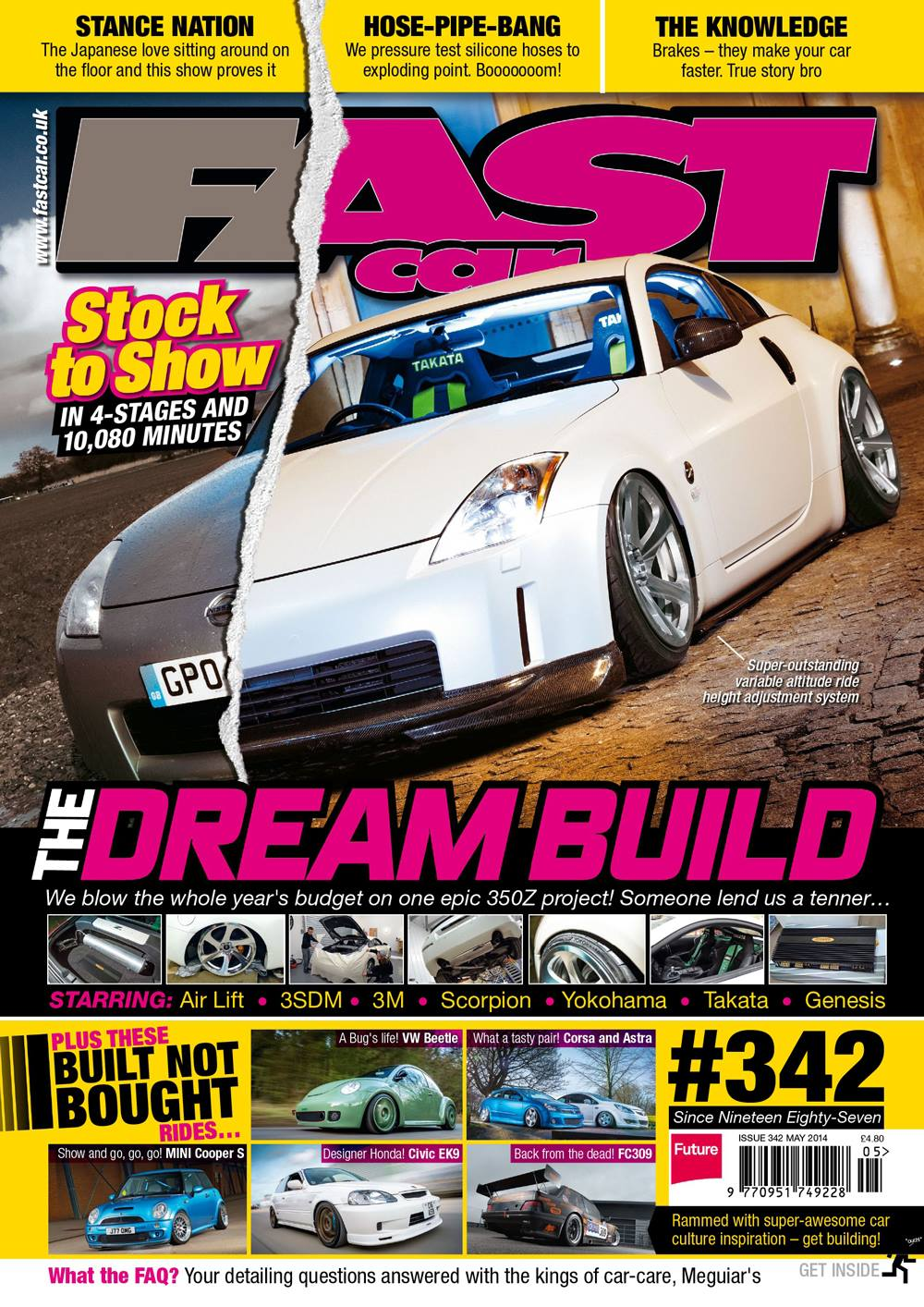 Fast Car Magazine's 350z on Air Lift Performance air suspension