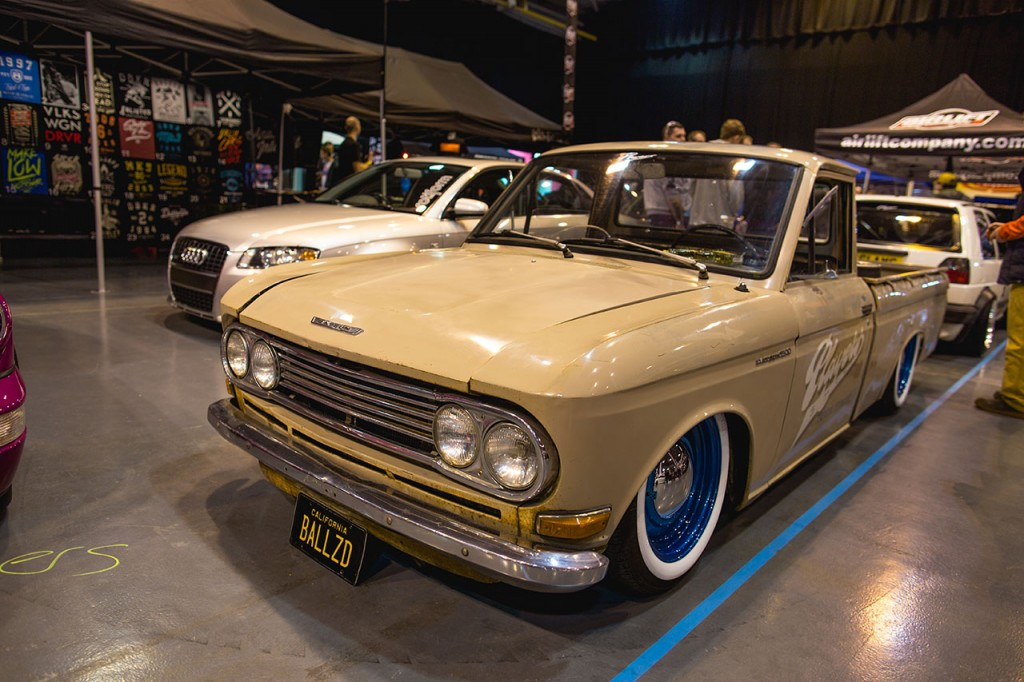 Player's 1966 Datsun 520 on Air Lift Performance air suspension