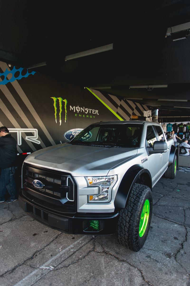 Vaughn Gittin Jr. RTR 2015 Ford F-150 truck  on Air Lift Performance air suspension
