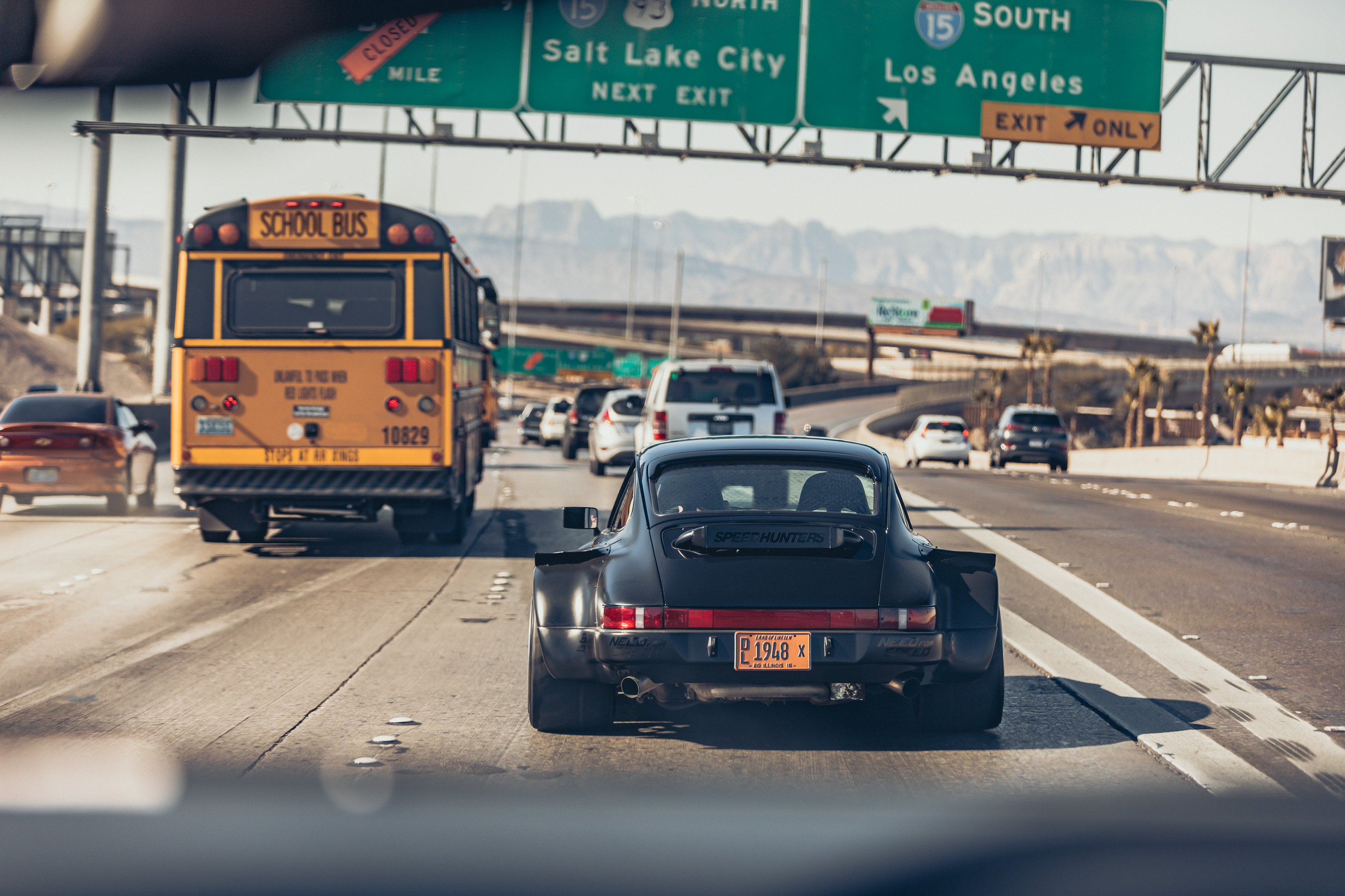 Wide body RWD Porsche 964 hits the roads of Las Vegas with Top Gear