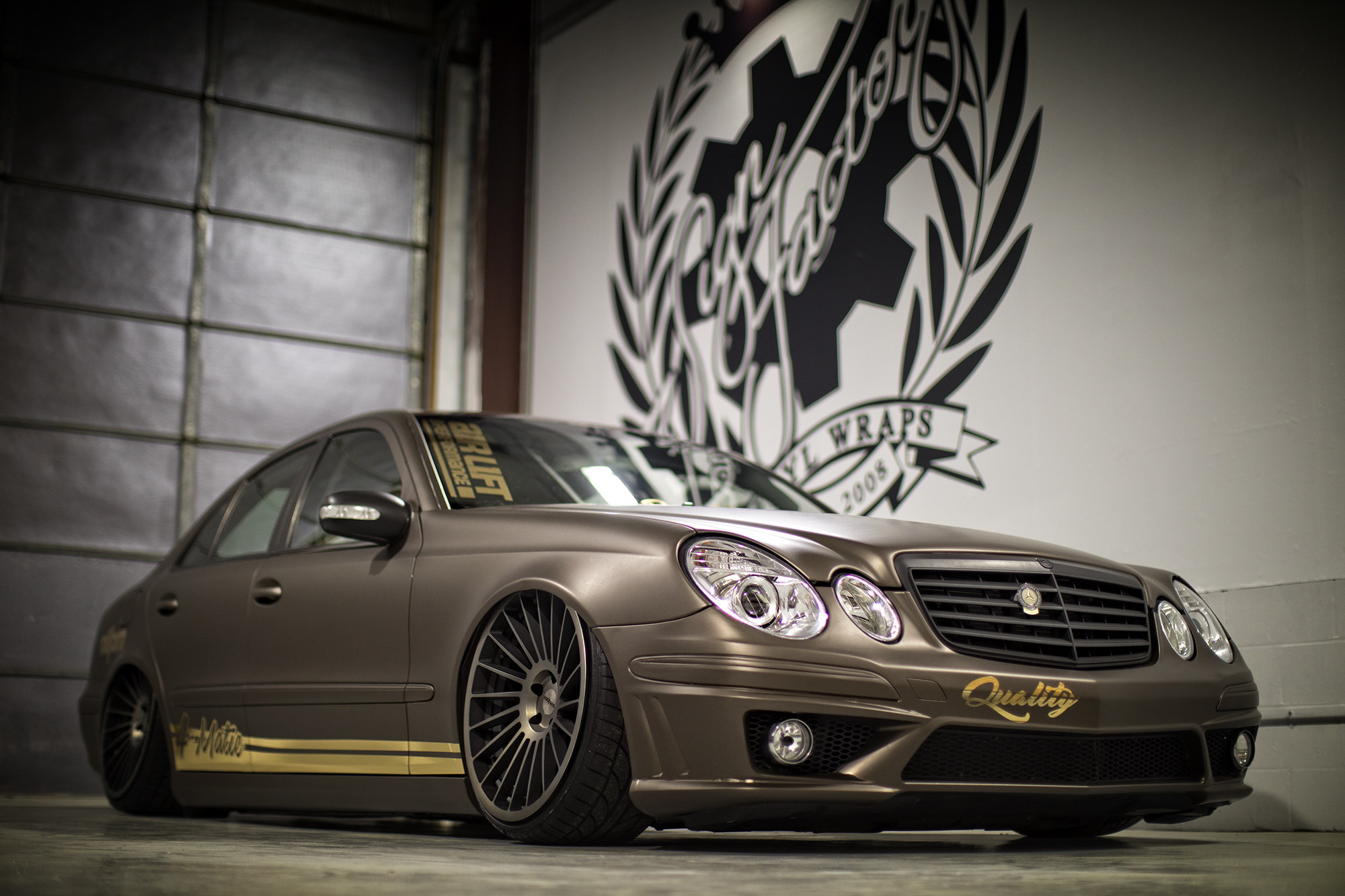 Mercedes E350 4matic on Air Suspension