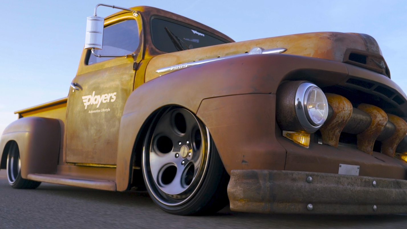 1950 Ford F1 on Air Suspension