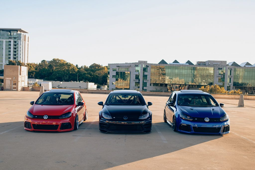 Air Lift Performance Around The World South Africa - VW Golf R trio line up