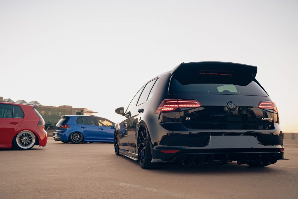 Air Lift Performance Around The World South Africa - VW Golf R trio laid out