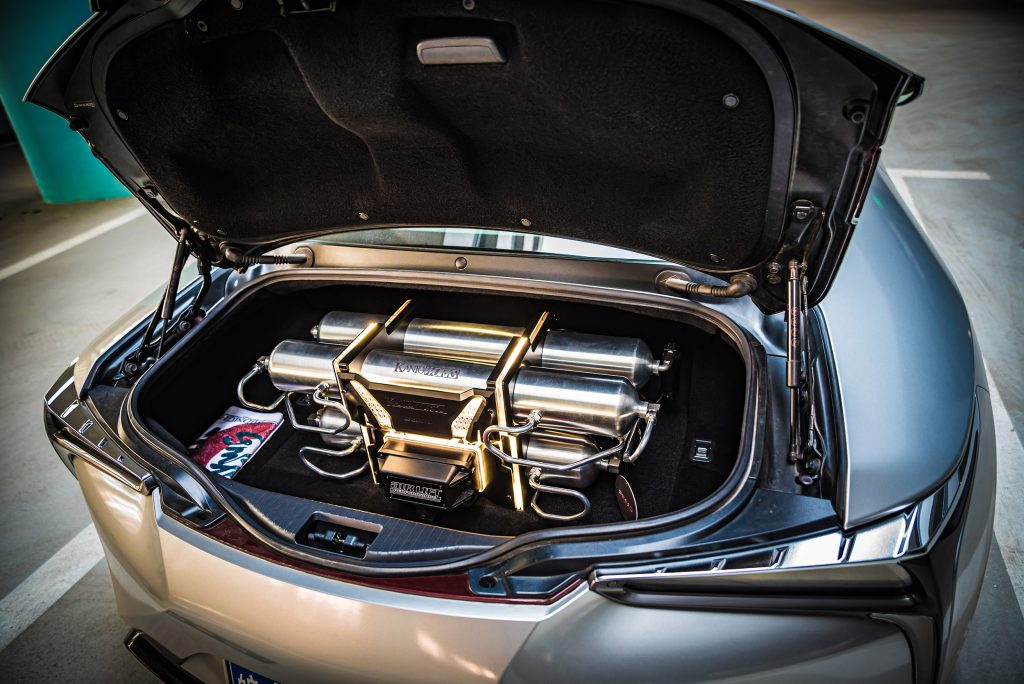 Around the World Series China - Kantoworks Lexus trunk setup
