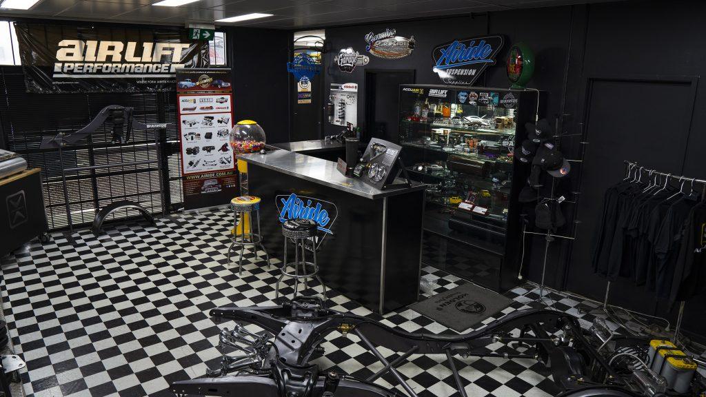 Airride Suspension Supplies Australia showroom