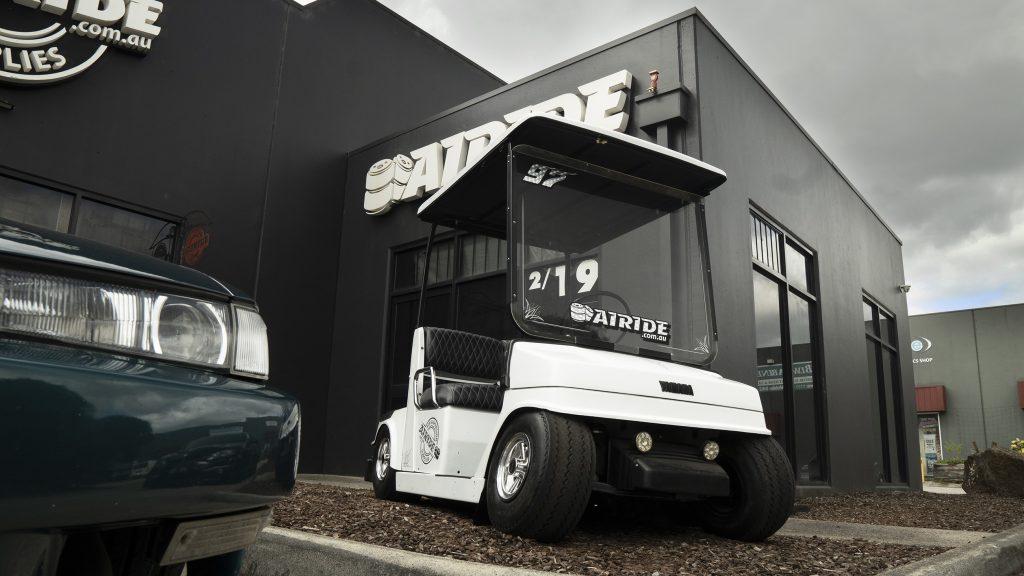 Airride Suspension Supplies Australia bagged golf cart